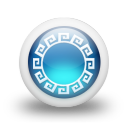 glossy 3d blue orbs2 115 icon