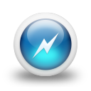 glossy 3d blue power icon
