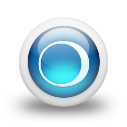 glossy 3d blue orbs2 046 icon