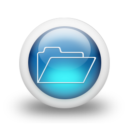 glossy 3d blue orbs2 063 icon