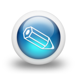 Glossy 3d blue orbs2 083 icon