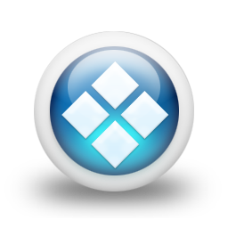 Glossy 3d blue orbs2 088 icon