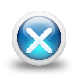 Glossy 3d blue orbs2 107 icon