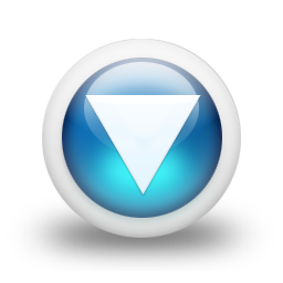 Glossy 3d blue orbs2 118 icon