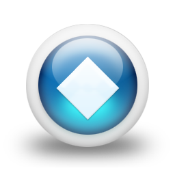 Glossy 3d blue orbs2 138 icon