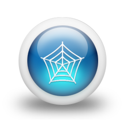 Glossy 3d blue web icon