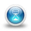 Glossy-3d-blue-hourglass icon