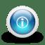 Glossy-3d-blue-i icon