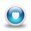 Glossy-3d-blue-shield icon