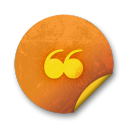 Orange-sticker-badges-002 icon