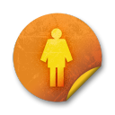 orange sticker badges 065 icon