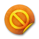 Orange-sticker-badges-080 icon