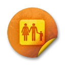 orange sticker badges 085 icon