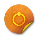 Orange-sticker-badges-103 icon