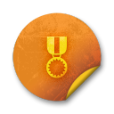 Orange-sticker-badges-139 icon