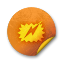 Orange sticker badges 193 icon