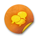orange sticker badges 212 icon