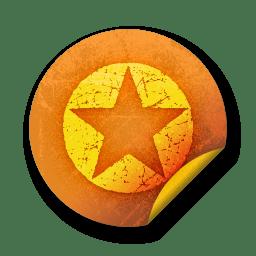 orange sticker badges 036 icon