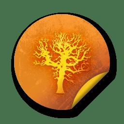Orange sticker badges 051 icon