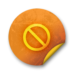 orange sticker badges 055 icon