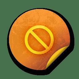 orange sticker badges 055 icon