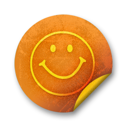 Orange sticker badges 067 icon