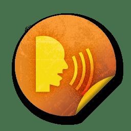 orange sticker badges 069 icon