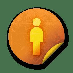 orange sticker badges 077 icon