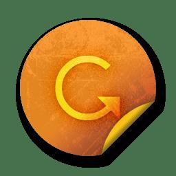 orange sticker badges 092 icon