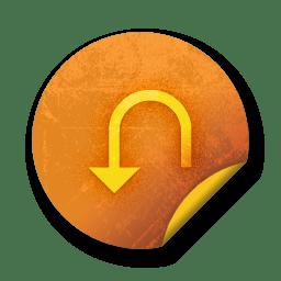 Orange sticker badges 093 icon
