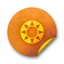 orange sticker badges 097 icon