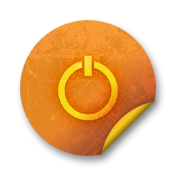 Orange sticker badges 103 icon