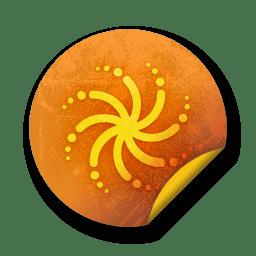 orange sticker badges 110 icon