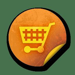 orange sticker badges 128 icon