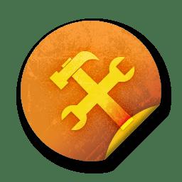 orange sticker badges 142 icon