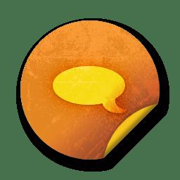 orange sticker badges 149 icon