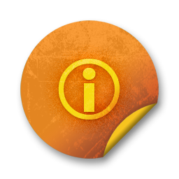 Orange sticker badges 176 icon