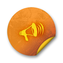orange sticker badges 213 icon