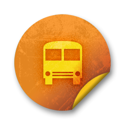 orange sticker badges 215 icon