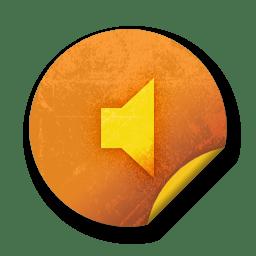 Orange sticker badges 219 icon