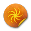 Orange-sticker-badges-110 icon