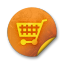 Orange-sticker-badges-128 icon