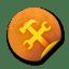 Orange-sticker-badges-142 icon
