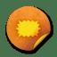 orange sticker badges 148 icon