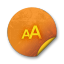 Orange-sticker-badges-173 icon