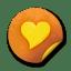 Orange sticker badges 221 icon