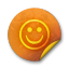 Orange-sticker-badges-274 icon