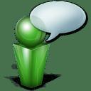 bulle green icon