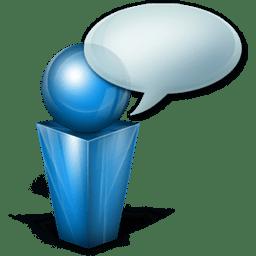 bulle blue icon