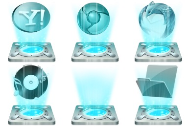 Hologram Dock Icons